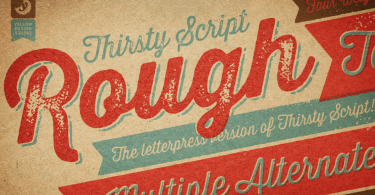 Thirsty Rough [21 Fonts]