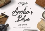 Amelia'S Blue [2 Fonts] | The Fonts Master