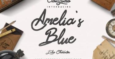 Amelia's Blue [2 Fonts]