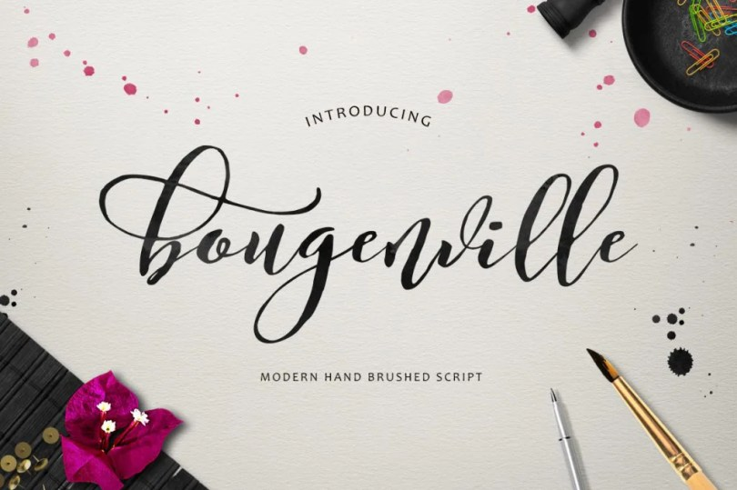 Bougenville Script [1 Font] | The Fonts Master