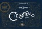 Celestial Fonts &Amp; Vintage Pattern [2 Fonts + Bonus] | The Fonts Master