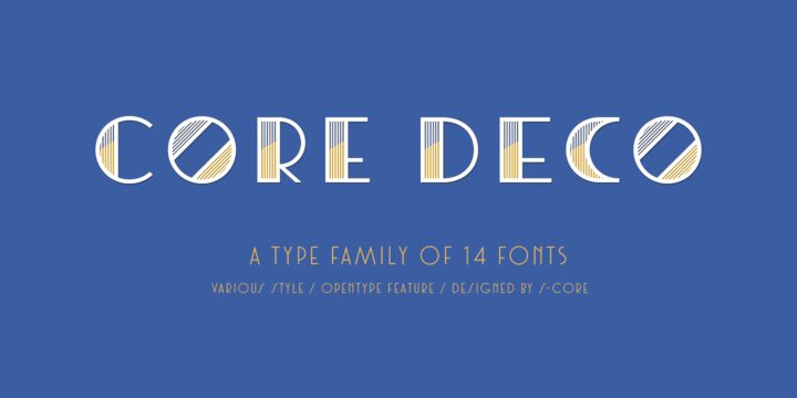 Core Deco [14 Fonts]   The Fonts Master
