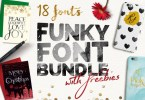 Funky Font Bundle + Extras [23 Fonts + Extras] | The Fonts Master