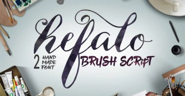 Hefalo Brushscript [2 Fonts] | The Fonts Master