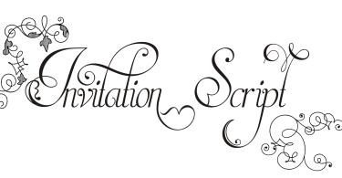 Invitation Script [4 Fonts]