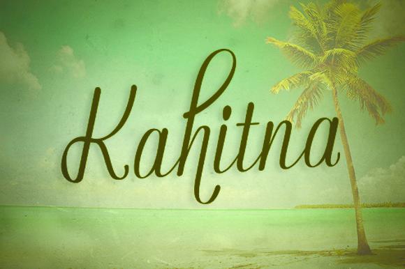 Kahitna [1 Font]   The Fonts Master