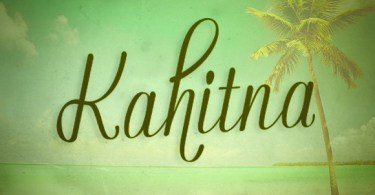 Kahitna [1 Font] | The Fonts Master