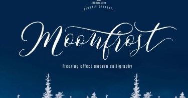 Moonfrost Script [1 Font] - The Fonts Master