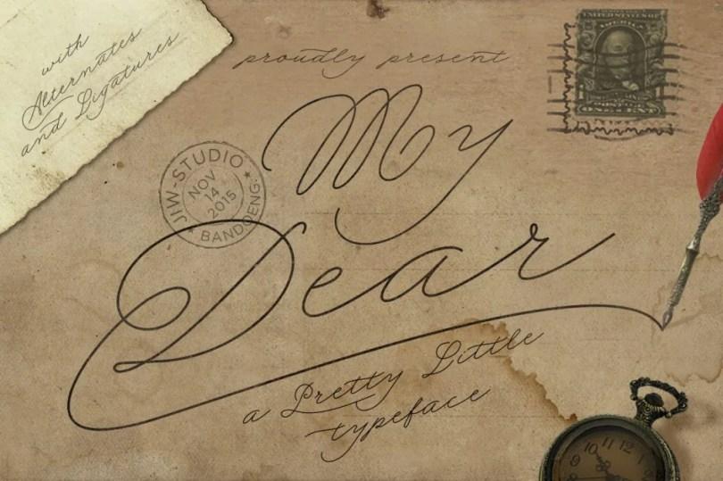 My Dear Script [1 Font]   The Fonts Master