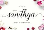 Sandhya Script [1 Font] | The Fonts Master