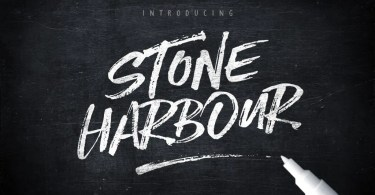 Stone Harbour + Extras [3 Fonts + Extras] | The Fonts Master