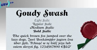 Wtc Goudy Swash [4 Fonts] | The Fonts Master