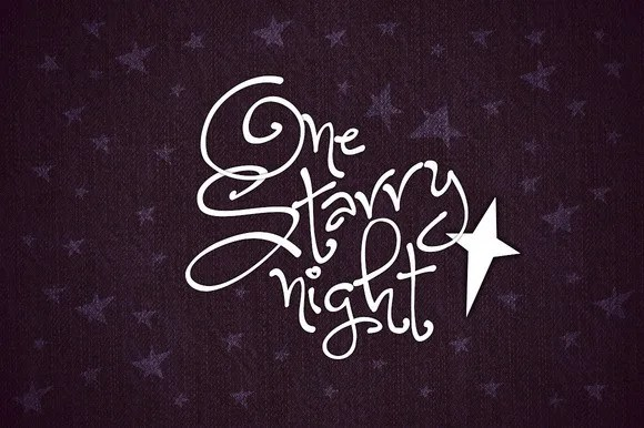 One Starry Night [1 Font]   The Fonts Master