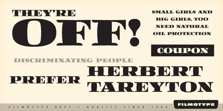 Filmotype Reef [1 Font] | The Fonts Master