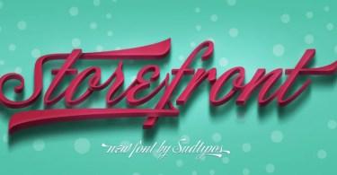 Storefront Pro [1 Font] | The Fonts Master