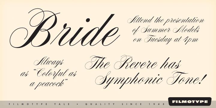 Filmotype Yale [1 Font] | The Fonts Master