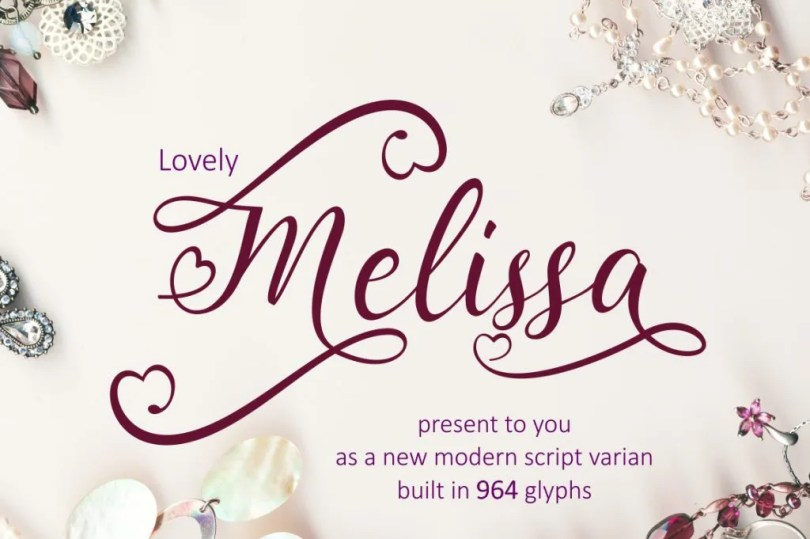 Lovely Melissa [1 Font]   The Fonts Master