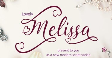 Lovely Melissa [1 Font] | The Fonts Master