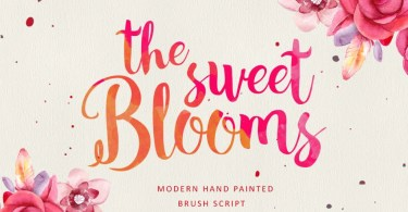 The Sweet Blooms [1 Font + Extra] | The Fonts Master