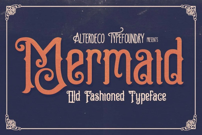 Mermaid [1 Font]   The Fonts Master