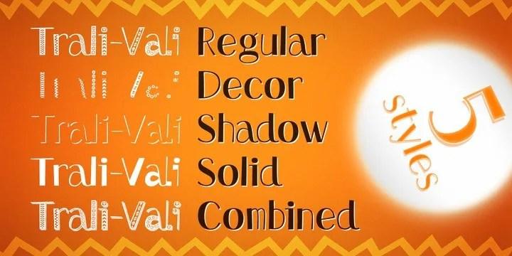 Trali-Vali [5 Fonts]   The Fonts Master