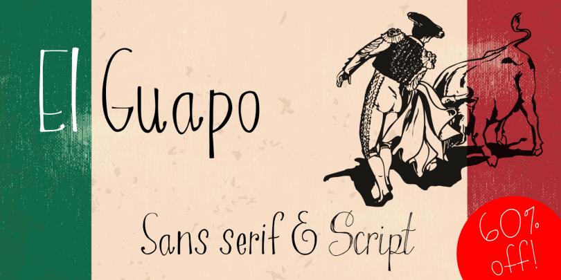 El Guapo [4 Fonts]   The Fonts Master