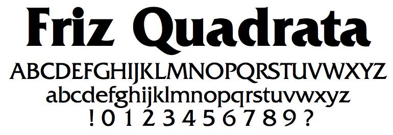 Friz Quadrata [9 Fonts]   The Fonts Master