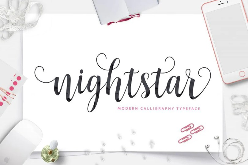 Nightstar Script [1 Font] | The Fonts Master