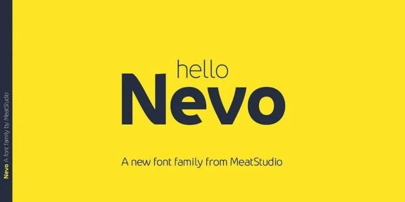 Nevo [14 Fonts]   The Fonts Master
