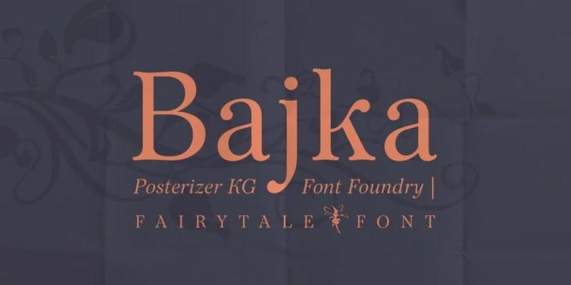 Bajka [5 Fonts]   The Fonts Master