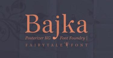 Bajka [5 Fonts] | The Fonts Master