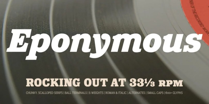 Eponymous [10 Fonts]   The Fonts Master