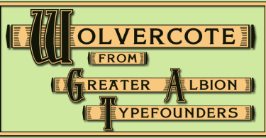 Wolvercote [1 Font] | The Fonts Master