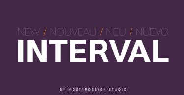 Interval Sans Pro [14 Fonts] | The Fonts Master
