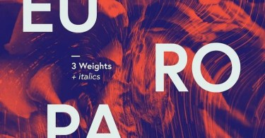 Europa [6 Fonts] - The Fonts Master