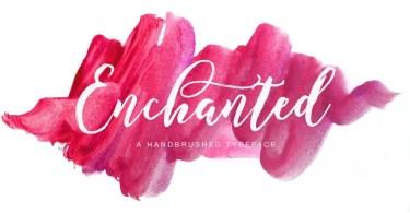 Enchanted Brush [1 Font] | The Fonts Master