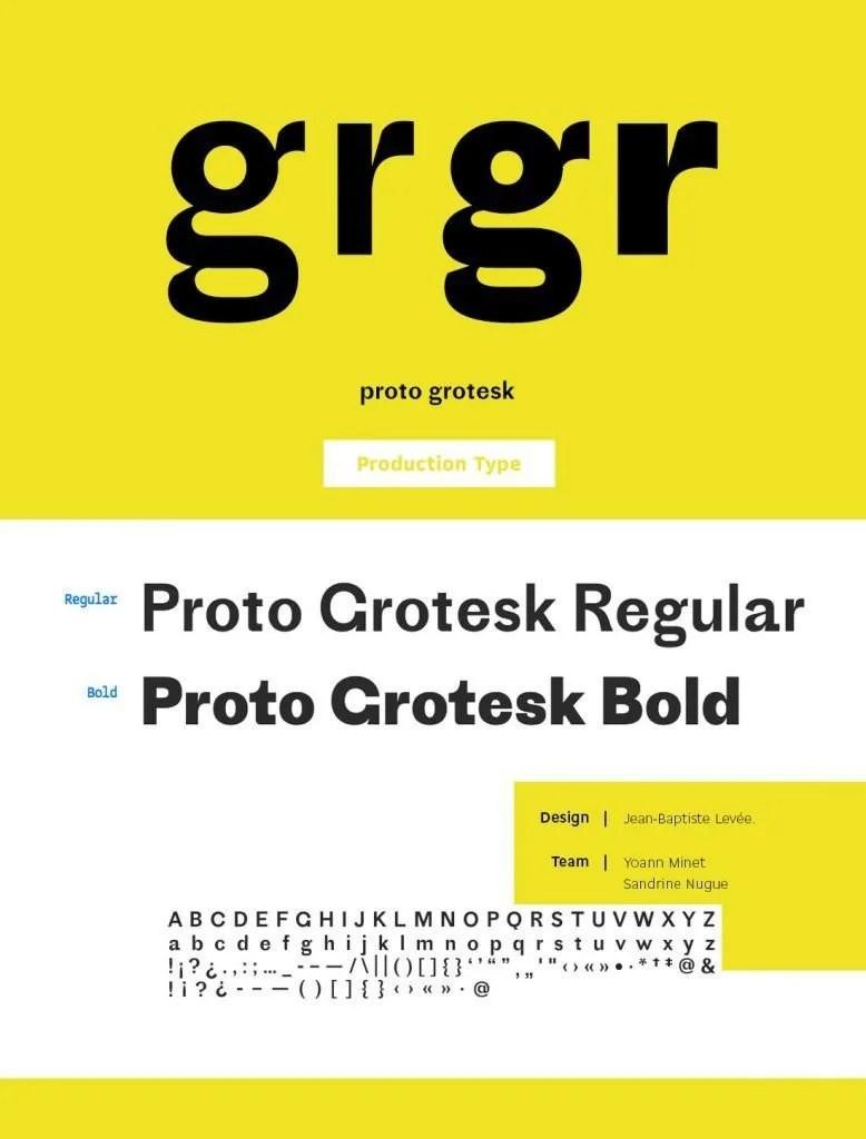 Proto Grotesk [2 Fonts] | The Fonts Master