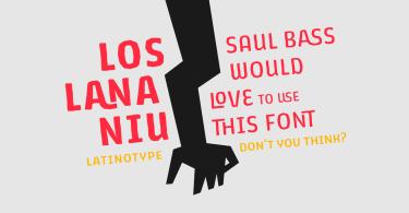 Los Lana Niu [24 Fonts]   The Fonts Master