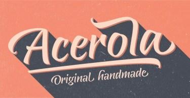 Acerola [1 Font] | The Fonts Master