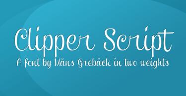 Clipper Script [4 Fonts]