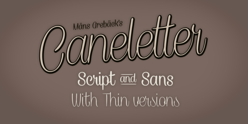 Caneletter [4 Fonts]   The Fonts Master