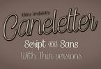 Caneletter [4 Fonts] | The Fonts Master