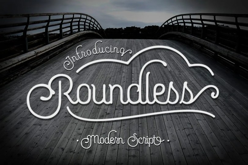 Roundless Script [2 Fonts + Extra] | The Fonts Master
