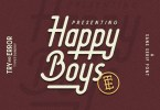 Happy Boys + Sailors Slant [2 Fonts] | The Fonts Master