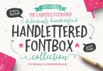 The Handlettered Fontbox [24 Fonts + Extras] | The Fonts Master