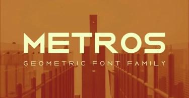Metros [6 Fonts] | The Fonts Master