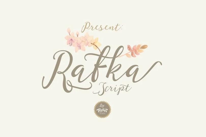 Rafka Script [2 Fonts + Extras] | The Fonts Master