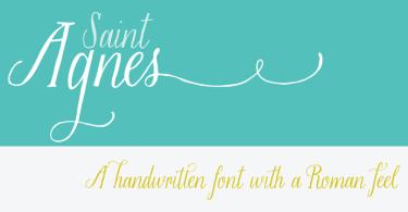 Saint Agnes [1 Font] | The Fonts Master