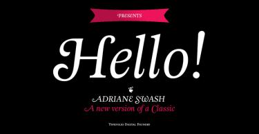 Adriane Swash [1 Font] | The Fonts Master