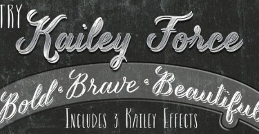 Kailey Force [3 Fonts] | The Fonts Master